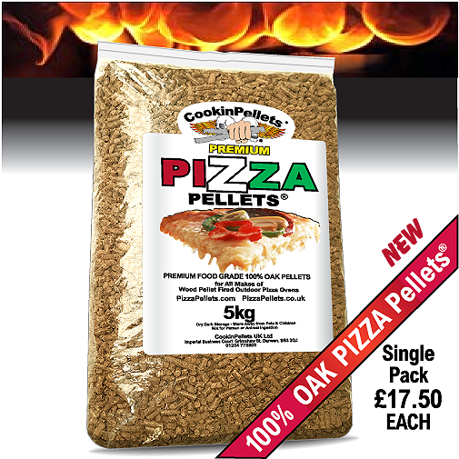 100% OAK - PREMIUM PIZZA PELLETS® 1x5Kg \'Test\' Pack