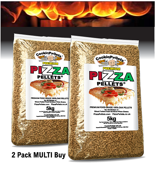 10kg PREMIUM 100% Oak Pizza Pellets® Multi Buy