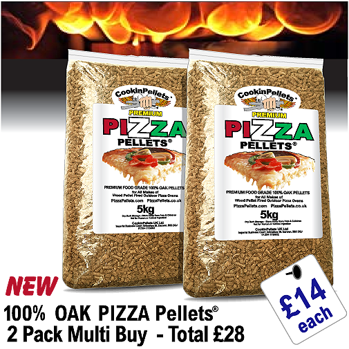 100% OAK - PREMIUM PIZZA PELLETS® 2x5Kg Pack Deal