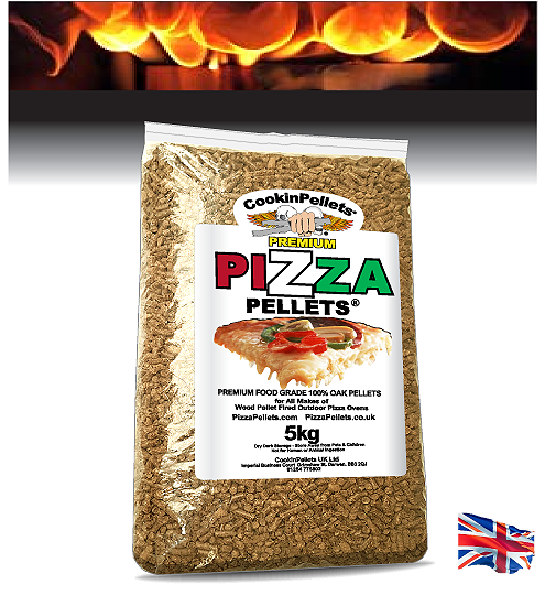 5Kg PREMIUM 100% Oak Pizza Pellets® Resealable Pack